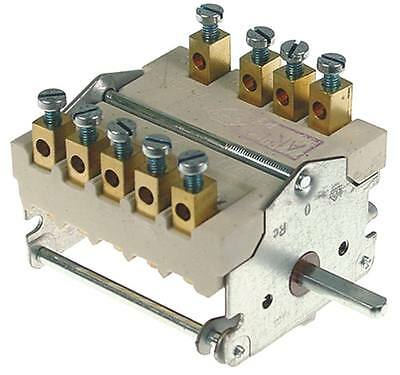 Ego 43.24832.060 Cam Switches 4-pin Axle Ø 6x4, 6x23mm 4 Positions