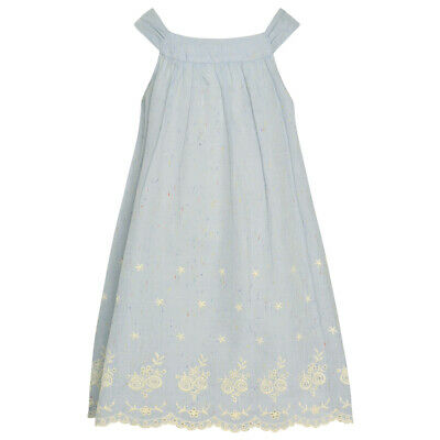 54514f6b46d Bonnie Jean Little Girls Blue Floral Embroidered Sleeveless A-Line Dress 3T