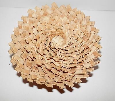 """Vintage Stacking 10 graduated Wicker Bamboo Straw Rattan Woven Baskets 6"""" - 1.5"""""""