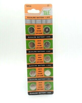 30 x AG13, G13, SR44, LR44, A76, V13GA, PX76A, 357 Alkaline Button Batteries UK