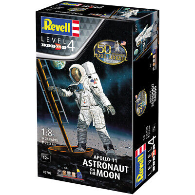 Revell Apollo 11 50th Anniversary Astronaut on the Moon Model Kit (Scale 1:8)