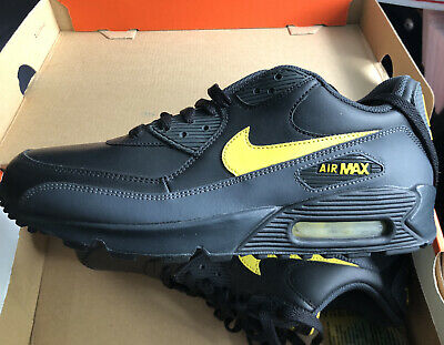 official photos f56f9 efc53 Men s Nike Air Max  90 Black Zest Anthracite Running Shoes 302519-073 sz 8.5