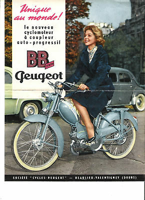 PEUGEOT CYCLES BB 1 CENTRI - 1959 / catalogue brochure prospekt dépliant catalog
