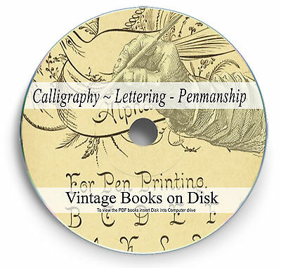 RARE VINTAGE CALLIGRAPHY LETTERING BOOKS on DVD - PENMANSHIP & TYPOGRAPHY - 271