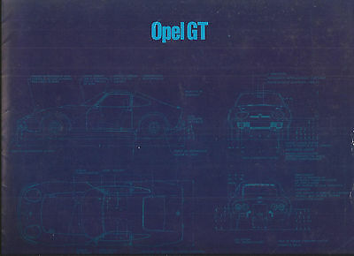 OPEL GT - 1973 ? catalogue brochure prospekt folder dépliant prospectus catalog