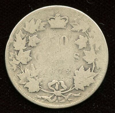 1872H Canada Fifty Cents - Half Dollar 50 Cents Coin