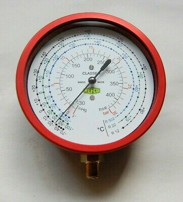 compound pressure vacuum gauge- red