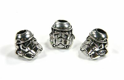 2 Colors Stormtrooper Beads For Leather & Paracord Bracelets Lanyards - US Vet