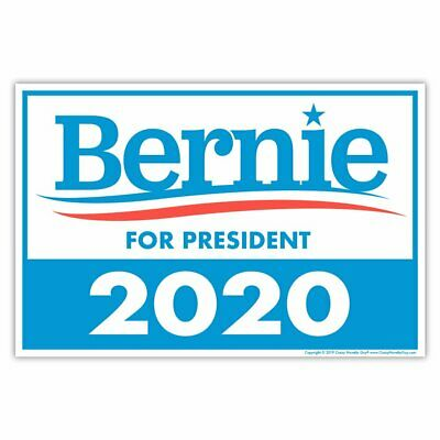 Political Campaign Yard Sign w/Stake - Bernie Sanders 2020 - Double-Sided, 18x12