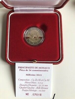 2 Euros Monaco 2018 Bosio Peintre Be/Pp/Proof Dispo