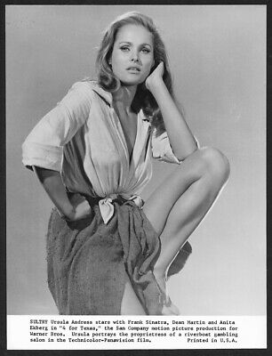 Vintage 1963 Ursula Andress 4 for Texas Leg Show Frontier Girl Pin-Up Photograph