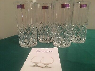 Marquis By Waterford Markham Highball Glasses Set Of 4 Brand New Nib Excellent