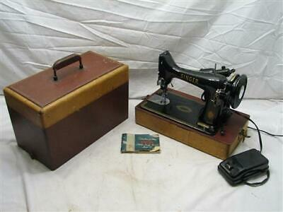 Singer Model 99 Portable Sewing Machine w/Case/Manual 1954 99K