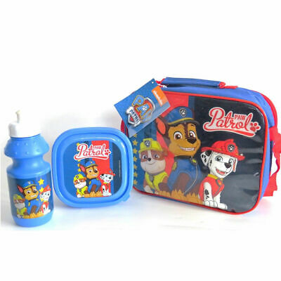 Children's Paw Patrol School Lunch Bag With Water Bottle And Food Snack Box 892