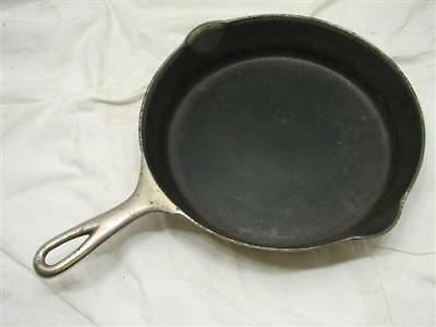 Erie Cast Iron No. 8c 8 C Frying Pan Smoke/Heat Ring Pre-Griswold Skillet Chrome
