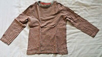 boys red and grey striped long sleeve t-shirt age 8-9