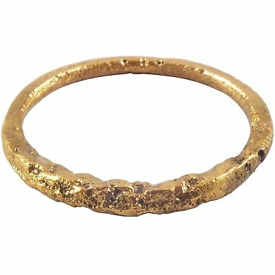 ANCIENT VIKING TWISTED MOTIF RING 850-1050 AD Size 8 3/4.