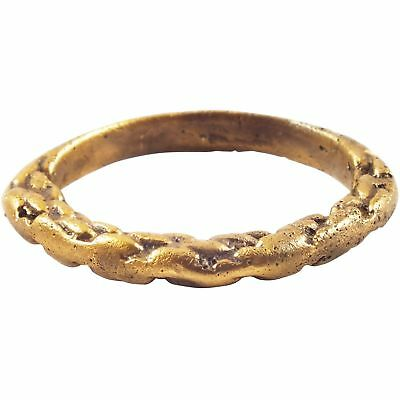 ANCIENT VIKING TWISTED MOTIF RING 850-1050 AD Size 8 1/4.