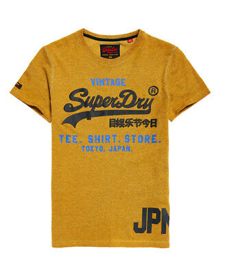 New Mens Superdry Shirt Shop Duo Overdyed T-Shirt Summer Gold