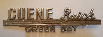 Cuene Buick Green Bay Car Emblem Name Plate Badge Collectible Metal