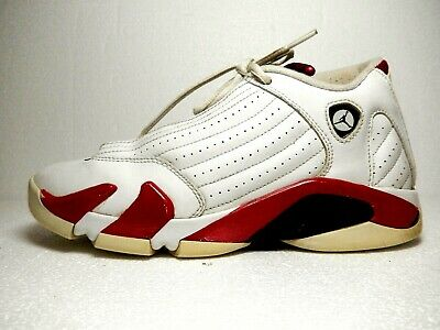 5ea70524f963 2011 NIKE AIR Jordan 14 XIV Retro GS Candy Cane White Red Size 5.5Y ...