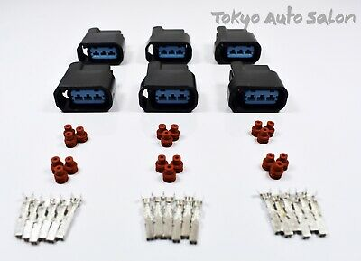 6 x Ignition Coil Connector Plugs – For Honda Civic K-Series Engine and S2000