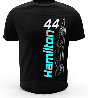 Lewis Hamilton T-shirt 2019 5x F1 World Champion Mercedes Kids/Adult