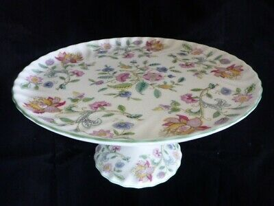 """HADDON HALL by MINTON Footed Cake Plate 9 5/8""""-Hard to Find Rare Item from 1960"""