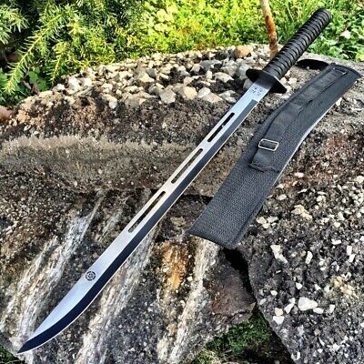 "28"" NINJA SAMURAI Full Tang SWORD KATANA Machete Fantasy Cosplay Combat New,"