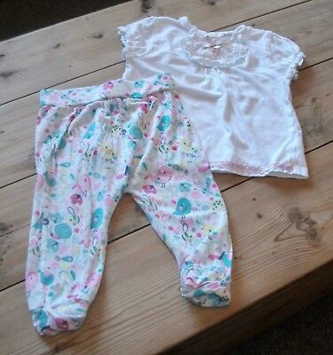 Baby Girls Trousers & Top Outfit  Age 3-6 Months