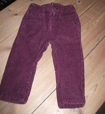 Next Baby Boys Aubergine Corduroy Jeans Age 3-6 Months