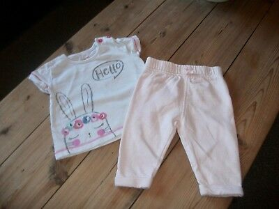 Baby Girls Trousers & Top Outfit  Age 0-3  Months