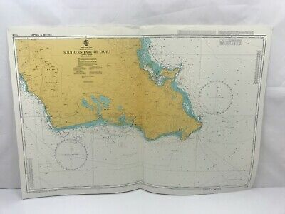 Admiralty Chart Nautical Map Pacific Ocean Southern Part of Oahu 1378 1998