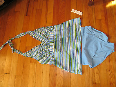 Women's Two Hearts 2 Piece Maternity SwimsuitBlue Size S NWT