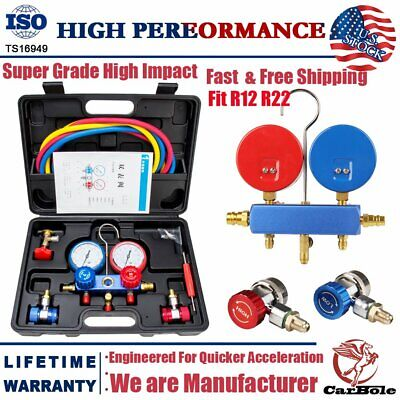 R134A R12 R22 HVAC A/C Refrigeration Charging Manifold Gauge Diagnostic Kits Set
