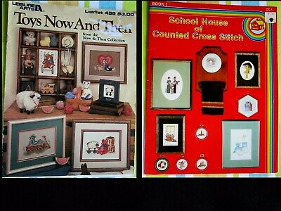 Vintage 1981 School House of Counted Cross Stitch Book 16 Designs & Pages