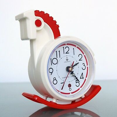 Vintage FIVE RAMS Mantel Alarm Clock ROCKING HORSE RARITY Space Age Mid Century!