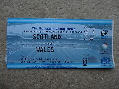 Scotland V Wales 2003 Rugby Union Match Ticket Six Nations