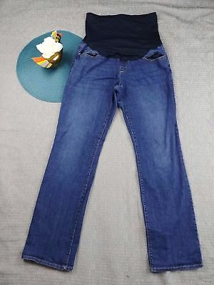 200ecc8506ea1 Liz Lange Maternity Women's Medium Wash Boot Cut Denim Jeans Casual Size 8  1W37