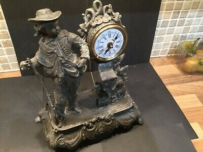 Antique  victorian  timepiece with an alarm mantle clock