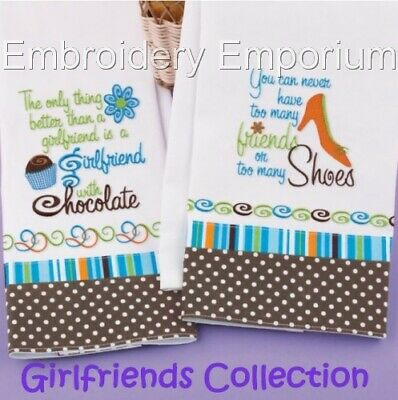 Girlfriends Collection - Machine Embroidery Designs On Cd Or Usb