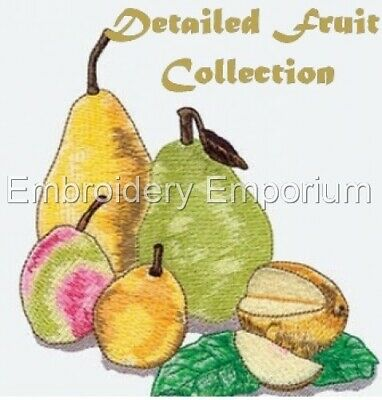 Detailed Fruit Collection - Machine Embroidery Designs On Cd Or Usb