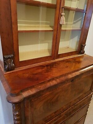 Stunning continental  secretaire / bookcase in mahogany
