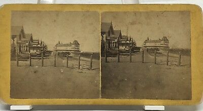 SV-Massachusetts-Sea View House, Oak Bluffs-Martha's Vineyard 1870s Stereoview