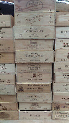 Wooden Wine Box Crate. Rare Double Magnum size. French, Genuine, Storage/Planter