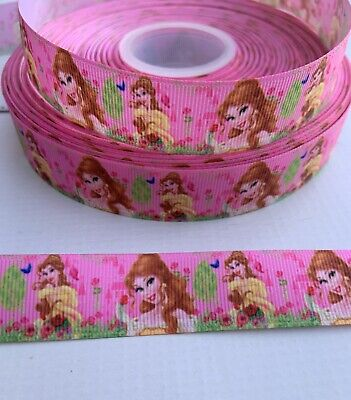 """1m Beauty And The Beast 38mm 1.5/"""" Princess Belle Printed Grosgrain Ribbon"""