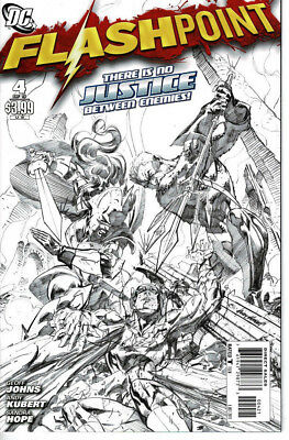 Flashpoint #4 (2011) 1:25 Sketch Black and White Cover Andy Kubert DC Comics