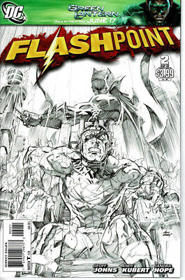 Flashpoint #2 (2011) 1:25 Sketch Black and White Cover Andy Kubert DC Comics