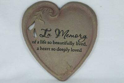 Garden / Wall Plaque By Abbey Press 'In Memory Of A Life So...#52325C New In Box