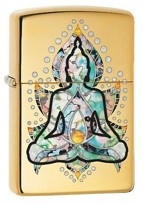 Zippo Lighter: Fusion Sitting Buddha - High Polish Brass 78783